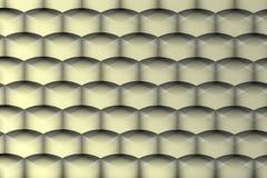Μεταλλική και διαφανής γεωμετρική σύσταση Στοκ Φωτογραφία