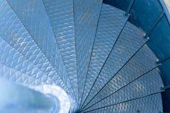 Μεταλλική σπειροειδής σκάλα στοκ φωτογραφία