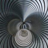 Μεταλλική σπειροειδής φουτουριστική περίληψη Στοκ εικόνα με δικαίωμα ελεύθερης χρήσης