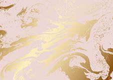 Μεταλλικός αυξήθηκε χρυσή αφηρημένη σύσταση Στοκ Εικόνες