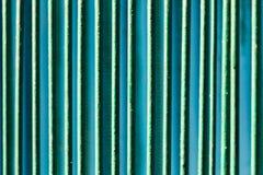 Μεταλλικός φράκτης που χρωματίζεται με το πράσινο χρώμα ως υπόβαθρο Στοκ φωτογραφία με δικαίωμα ελεύθερης χρήσης