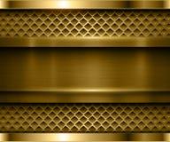 Μεταλλικός χρυσός υποβάθρου διανυσματική απεικόνιση