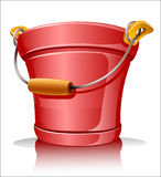 μεταλλικό κόκκινο κάδων Στοκ Εικόνα