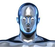 Μεταλλικό πρόσωπο χρωμίου απεικόνιση αποθεμάτων