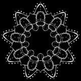 Μεταλλικό mandala όπως τη διακόσμηση σε ένα μαύρο υπόβαθρο διανυσματική απεικόνιση