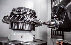Μεταλλουργική CNC μηχανή άλεσης Στοκ Φωτογραφία