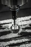 Μεταλλουργική CNC μηχανή άλεσης Στοκ φωτογραφία με δικαίωμα ελεύθερης χρήσης