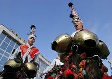 Μεταμφίεση της Βουλγαρίας Kukeri στοκ φωτογραφία με δικαίωμα ελεύθερης χρήσης