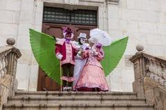 Μεταμφιεσμένα πρόσωπα - Annecy ενετικό καρναβάλι 2014 στοκ φωτογραφία με δικαίωμα ελεύθερης χρήσης