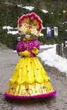 Μεταμφιεσμένο πρόσωπο - Annecy ενετικό καρναβάλι 2013 Στοκ Εικόνες
