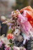 Μεταμφιεσμένο πρόσωπο - Annecy ενετικό καρναβάλι 2014 στοκ εικόνες
