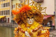 Μεταμφιεσμένο πρόσωπο - Annecy ενετικό καρναβάλι 2014 στοκ φωτογραφία με δικαίωμα ελεύθερης χρήσης