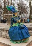 Μεταμφιεσμένο πρόσωπο - Annecy ενετικό καρναβάλι 2014 στοκ εικόνα