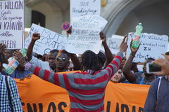 Μετανάστες Μόναχο επίδειξης Στοκ εικόνες με δικαίωμα ελεύθερης χρήσης