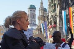 Μετανάστες Μόναχο επίδειξης Στοκ φωτογραφία με δικαίωμα ελεύθερης χρήσης