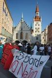 Μετανάστες Μόναχο επίδειξης Στοκ Εικόνες