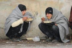 Μετανάστες σε Βελιγράδι κατά τη διάρκεια του χειμώνα στοκ εικόνα με δικαίωμα ελεύθερης χρήσης