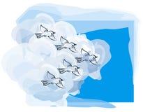 μετανάστευση πουλιών Ελεύθερη απεικόνιση δικαιώματος