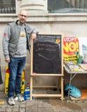 Μετανάστης στον αντι στάβλο UKIP στο νότο Thanet Στοκ φωτογραφία με δικαίωμα ελεύθερης χρήσης