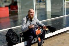 Μετανάστης τουριστών που ικετεύει στην οδό Στοκ φωτογραφία με δικαίωμα ελεύθερης χρήσης
