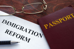 Μεταρρύθμιση μετανάστευσης Στοκ Εικόνες