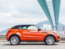 Μετατρέψιμη ημέρα Drive Range Rover Evoque Στοκ Φωτογραφία