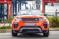 Μετατρέψιμη ημέρα Drive Range Rover Evoque Στοκ φωτογραφία με δικαίωμα ελεύθερης χρήσης