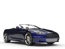 Μετατρέψιμο αθλητικό αυτοκίνητο - μαύρο/μπλε Pearlescent χρώμα στοκ εικόνες
