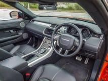 Μετατρέψιμο εσωτερικό Range Rover Evoque Στοκ Φωτογραφίες