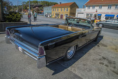 1965 μετατρέψιμο φορείο 4 πορτών του Λίνκολν ηπειρωτικό Στοκ Φωτογραφίες