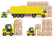Μεταφέροντας με φορτηγό βιομηχανία Στοκ Εικόνες