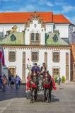 Μεταφορά αλόγων στην οδό Florianska Στοκ εικόνες με δικαίωμα ελεύθερης χρήσης
