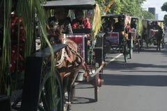 Μεταφορά αλόγων καρναβαλιού σε Sukoharjo Στοκ φωτογραφία με δικαίωμα ελεύθερης χρήσης