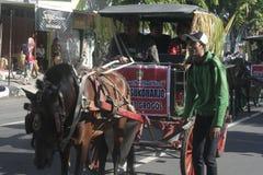 Μεταφορά αλόγων καρναβαλιού σε Sukoharjo Στοκ εικόνα με δικαίωμα ελεύθερης χρήσης