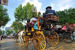 Μεταφορά αλόγων στην έκθεση της Σεβίλης, Ανδαλουσία, Ισπανία στοκ φωτογραφίες με δικαίωμα ελεύθερης χρήσης