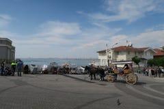Μεταφορά αλόγων στο νησί Buyukada - μέρος των νησιών πριγκήπων - κοντά στη Ιστανμπούλ, Τουρκία Στοκ εικόνα με δικαίωμα ελεύθερης χρήσης