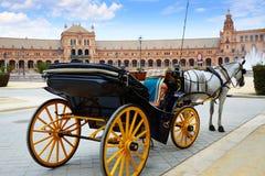 Μεταφορά Ισπανία της Σεβίλης Σεβίλλη Plaza de Espana Στοκ Φωτογραφία