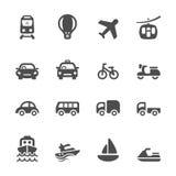 Μεταφορά και σύνολο εικονιδίων οχημάτων, διανυσματικό eps10 Στοκ Εικόνα