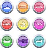 μεταφορά κουμπιών Στοκ Εικόνες