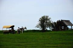 Μεταφορά με ένα άλογο Στοκ φωτογραφία με δικαίωμα ελεύθερης χρήσης
