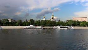 Μεταφορά ποταμών της Μόσχας απόθεμα βίντεο