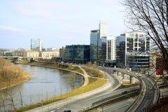 Μεταφορά πόλεων Vilnius στην οδό Gelezinis Vilkas Στοκ Φωτογραφίες