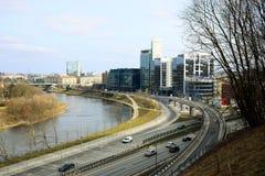 Μεταφορά πόλεων Vilnius στην οδό Gelezinis Vilkas Στοκ Εικόνες