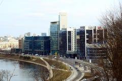 Μεταφορά πόλεων Vilnius στην οδό Gelezinis Vilkas Στοκ φωτογραφία με δικαίωμα ελεύθερης χρήσης
