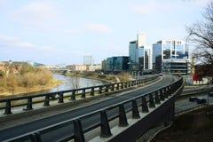 Μεταφορά πόλεων Vilnius στην οδό Gelezinis Vilkas Στοκ εικόνα με δικαίωμα ελεύθερης χρήσης
