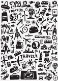 Μεταφορά ταξιδιού doodles Στοκ Εικόνες