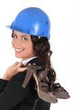 μεταφορά της γυναίκας παπουτσιών της στοκ φωτογραφία με δικαίωμα ελεύθερης χρήσης