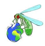 Μεταφορά της επιδείνωσης του περιβάλλοντος του πλανήτη Γη λόγω των οικονομικών συμφερόντων ελεύθερη απεικόνιση δικαιώματος