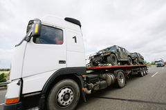 Μεταφορά τιγρών θωρακισμένων αυτοκινήτων Στοκ Εικόνες