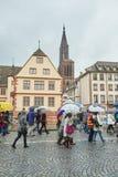 Μεταφορά του Στρασβούργου που παραλύεται κατά τη διάρκεια της διαμαρτυρίας Στοκ Εικόνες